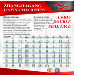Mechanical Seal (LY-BIA DOUBLE) pictures & photos