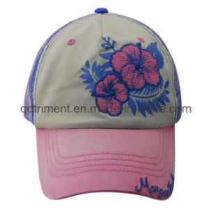 Monkey Washed Thick Stitching Print Embroidery Golf Baseball Cap (TMB0324) pictures & photos