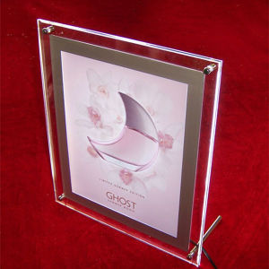 LED Acrylic Crystal Edge-Lit Decoration Picture Frame pictures & photos