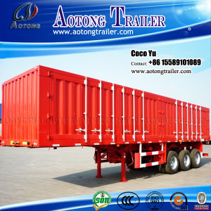 3 Axles Flatbed Container 40ft Van Trailer for Oman pictures & photos