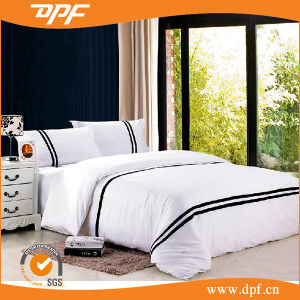 Hotel Supplies Wholesale 100% Cotton White Embroidery Bedding Sets pictures & photos