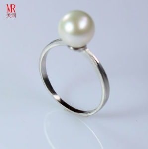 8-9mm 925 Solid Silver Real Natural Pearl Ring (ER1601) pictures & photos