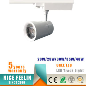 Black/White Housing CREE LED 40W Track Light for Commercial Lighting pictures & photos