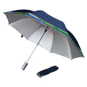 2 Fold Umbrella with Auto Open Fuction, Silver Coating (BR-FU-154) pictures & photos
