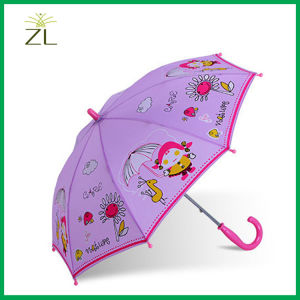 190t Polyester Cartoon Straight Child Umbrella pictures & photos