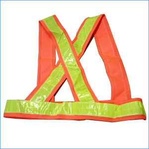 Polyester Lattice Reflective Orange Safety Strap pictures & photos
