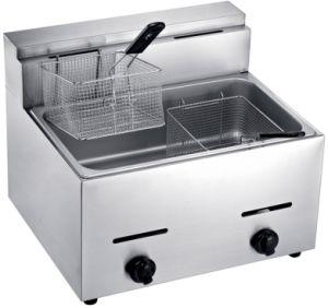 1-Tank, 2-Basket Gas Deep Fryer Refreshment Stand Workbench pictures & photos