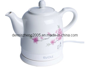 Teapot Ceramic Electric Kettle, Cordless Water Tea, 1500ml