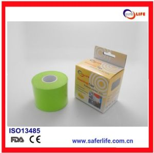 Hot Sale Fashion High Quality Colored Waterproof Sports Kinesiology Synthetic Tape Sport Tape for Athlete pictures & photos