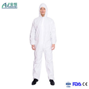 Disposable Microporous Coverall, PE Lanminated Non Woven Coverall pictures & photos