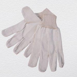 Drill Cotton Knit Wrist Work Glove pictures & photos