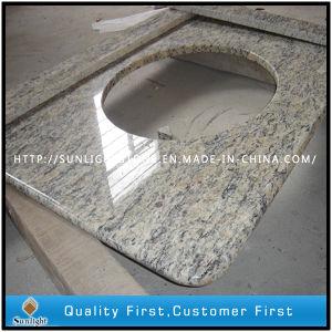 Prefab Giallo Santa Cecilia Light Granite Home Depot Bathroom Countertops pictures & photos