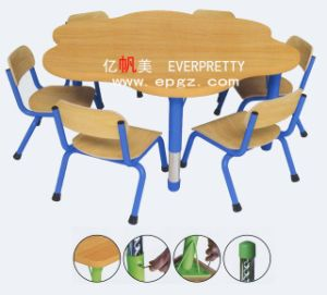 Durable School Furnitue Wooden Children Desk and Chair pictures & photos