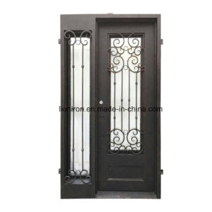 Front Doors with Ironwork and Tempered Glass pictures & photos
