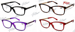 Special Design Metal Stripes Reading Glasses (SR3888)