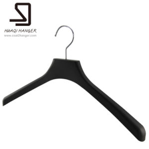 Luxury Plastic Clothes Hanger, Cheap Black Plastic Hanger, Suit Hanger pictures & photos