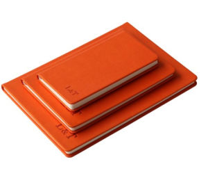 Leather Notebook with Logo Embossed (QCPN-8)