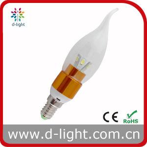 3W Golden Aluminum Housing E14 LED Candle Light pictures & photos