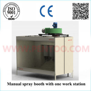 High Efficiency Manual Powder Spray Booth with Recovery System pictures & photos