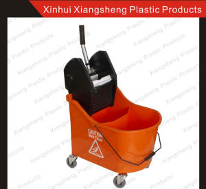 Mop Wringer 46L Double Buckets-Orange