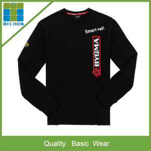 Round Neck Fleece Sweatshirt with Printing Logo