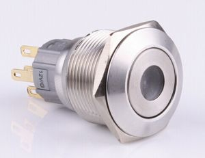 22mm Momentary DOT Pushbutton Switch IP67 pictures & photos