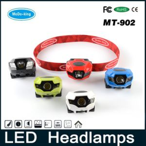 2016 Unique Design Factory Supply Light Weight High Power Waterproof LED Rechargeable Headlamp