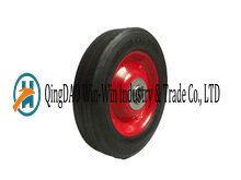 6in Solid Rubber Wheel with Steel Rim and Two Bearings pictures & photos