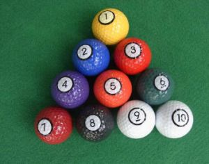 Promotional Colorful Mini Golf Balls Golf Practice Training Balls with Blister Packing pictures & photos