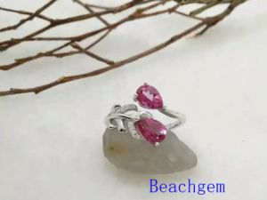 Jewelry-Pink Topaz Sterling Silver Ring (R0277) pictures & photos
