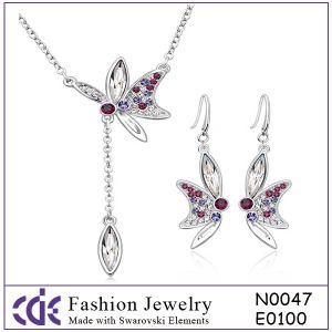 Costume Fashion Crystal Jewelry Set N0047 E0100