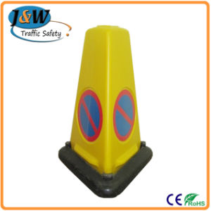 Fluorescent Orange PVC Traffic Cone with Black Base pictures & photos
