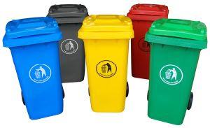 Multi-Color 120lt Plastic Dustbins pictures & photos
