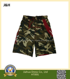 100% Polyester Woodland Camouflage Board Shorts for Boys/Kids/Children
