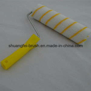 Pile 12mm Yellow Stripe European Style Acrylic Paint Roller for All Painting pictures & photos