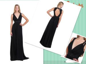 Evening Ladies Dress, Floor Length Backless Chiffon