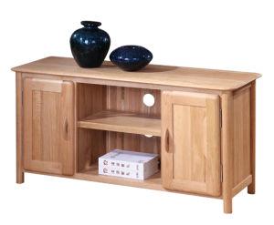 Solid Wood Oak Widescreen TV Cabinet-Antique Colour