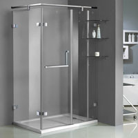 Soliid Brass Hinged Shower Enclosures