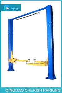 Two Post Clear Floor Double Cylinder Hydraulic Car Lift pictures & photos