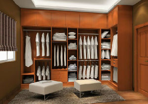 Solid Wood Walk in Closet (PR-L17) pictures & photos