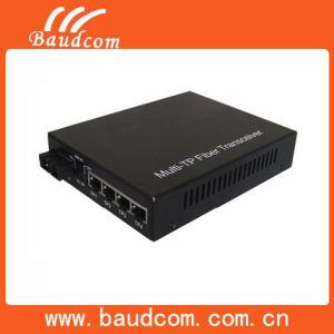 4ports Optical Fiber Media Converter