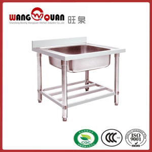 Competitive Price Stainless Steel Sink with Undershelf and 1 Bowl pictures & photos