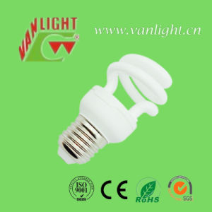 Half Spiral T2-9W Energy Saving Lamp CFL Bulb