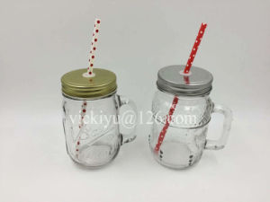 450ml Mason Jar with Lid and Straw pictures & photos