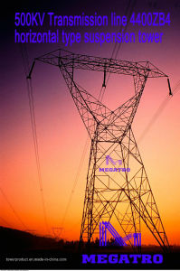 Megatro 500kv Transmission Line 4400zb4 Horizontal Type Suspension Tower pictures & photos