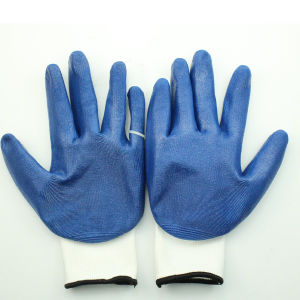 Nitrile Coated Smooth Cotton Gloves pictures & photos
