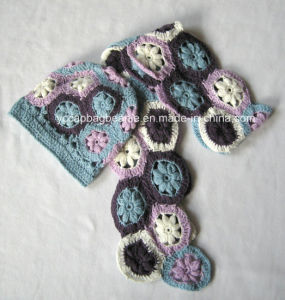Fashion Women Knit Scarf Sets pictures & photos