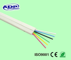 Telephone Wire Copper Conductor PVC Jacket Flat Telephone Cable pictures & photos