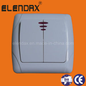 EU Style Flush Mounted Double Wall Power Switch (F3102) pictures & photos