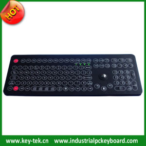 IP68 Membrane Food Factory Keyboard with Optical Trackball